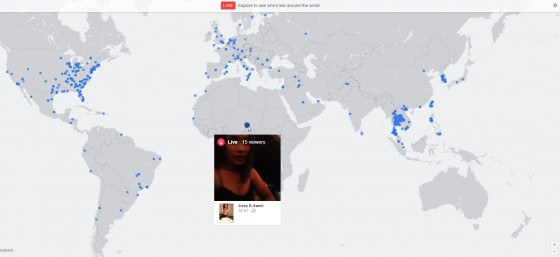 Live Explore to see who's live around the world