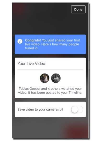 Save video after Live Facebook